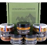Coffret 2 Olives Nature + Piment - 3 Spécialités de Tapenade Vertes H. de Provence, Amandes et Tomate