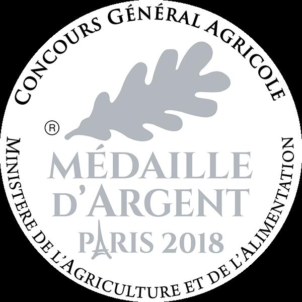 Médaille Argent 2018